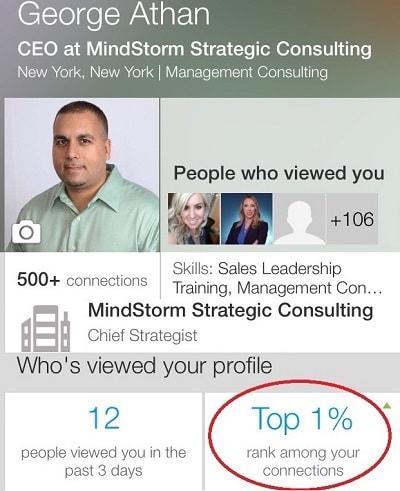 Top 1% on LinkedIn